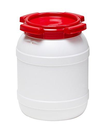 Certeo Weithalsfass 6l - Inhalt 6 Liter - Fass Kunststofffass Rundfass Standfass Weithalstonne Tonne