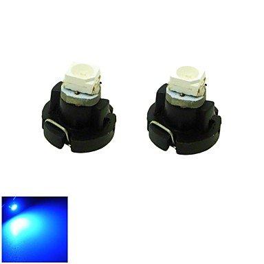 KLDZIDNI t3 LED bleue cluster de tableau de bord de voiture lumière 0.2w 1x3528 cms jauges lampe ampoule de bord (DC 12V, 2-pack)