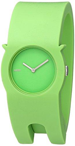 Alessi - AL24002 - Montre Mixte - Automatique - Analogique - Bracelet Plastique Vert