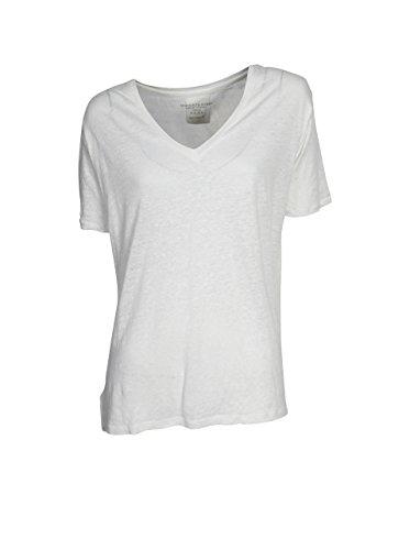 Majestic Damen Shirt Aus Leinen in Weiß 125 blanc