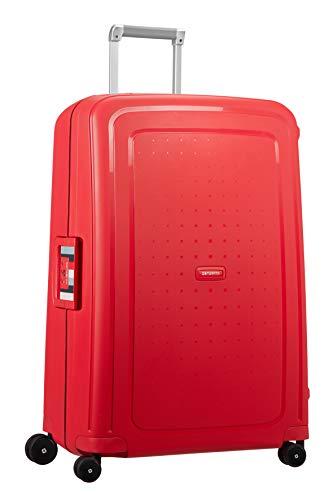 Samsonite S'Cure Spinner L Valigia, 75 cm, 102 L, Rosso (Capri Red Stripes)