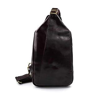 Gürteltasche leder schultertasche menner damen hüfttasche umhängetasche schultertasche ledertasche seitentasche beutel dunkelbraun