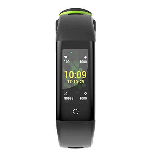Masterein G16 Color Screen Fitness Tracker Activity Tracker Smart Bracelet Heart Rate Blood Pressure Smart Band IP67 Waterproof Black & Green