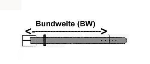 Ceinture en cuir avec PU Jean ceinture avec gaufrage et couture, largeur 3,8 cm, Boucle: 5 x 5 cm Brun
