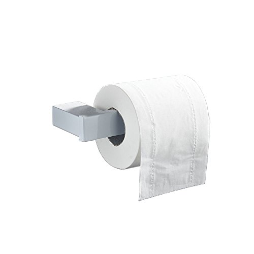Toilettenpapierhalter , Edelstahl Klopapierhalter Papierrollenhalter Toilette halter Toilettenpapier Klorollenhalter, für Küche und Badzimmer WC Rollenhalter , Weiße Farbe Finish (Toilettenpapier-halter Weiß)