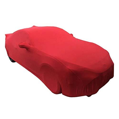Yapin Abdeckung Custom Car Show Beauty Shop Studio BAU Auto Show Stretch Tuch Auto Kleidung Auto Cover staubdicht Indoor Sonnencreme Jacken Schutzkleidung (Color : Red) -