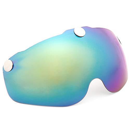 Victgoal Fahrradhelm Herren Damen Erwachsene Fahrrad Zyklus Helm Magnetischer Visier-Schutzbrille mit LED-Rücklicht 57-61 cm (Colorful)