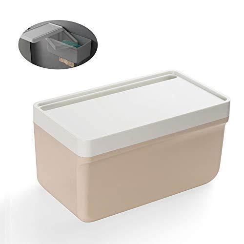 Ersatz-papierrollenhalter Oberfläche (KXYF Toilettenpapierhalter,Taschentücher Box Klopapierhalter,90 Grad drehbare Abdeckung Wasserdichter WC Rollenhalter Aufbewahrungsbox für Schlafzimmer, Badezimmer, Wohnzimmer, Küche,Pink)