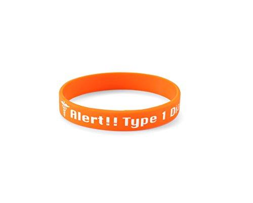 Typ 1 Diabetes-Insulin - Silikon-Armband (Type 1 Diabetes Silicone Wristband) Diabetes-band