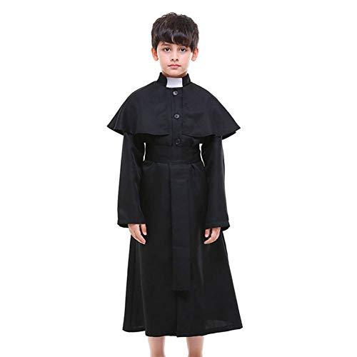 Kostüm Priester Für Erwachsenen Männer - GUAN Eltern-Kind-Kostüm Chor Kostüm Kind Kirche Priester Rollenspiel Cosplay Priester Kostüm