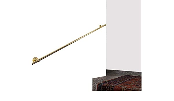 L/änge: 270 cm Handlauf Durchmesser 20 mm Belastung bis 80kg glanz Messing komplett