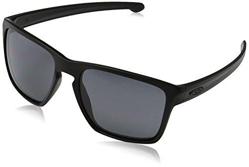Oakley Sonnenbrille SLIVER XL, Schwarz (GREY POLARIZED), 57, OO9341-01