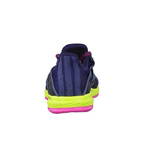 adidas Gymbreaker Bounce W, Chaussures de Running Femme, Multicolore Noir / bleu / rose (bleu marine collégial / bleu minéral / rose shocking)