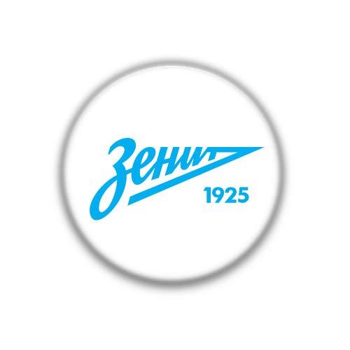 Zenit : Otras Ligas Europeas, Pinback Button Badge 1.50 Inch (38mm)
