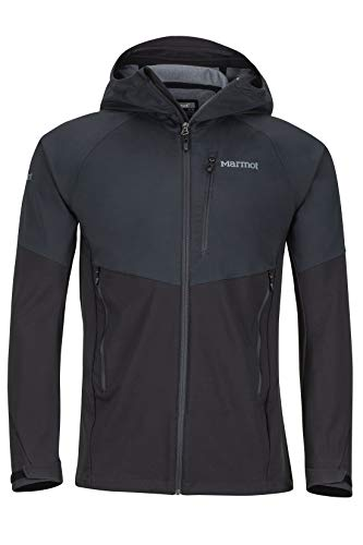 Marmot Herren ROM Softshelljacke Funktions Outdoor Jacke, Wasserabweisend, Black, L