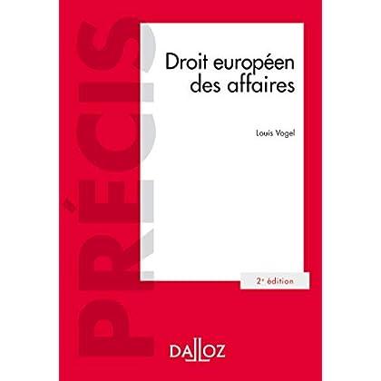 Droit européen des affaires - 2e éd.