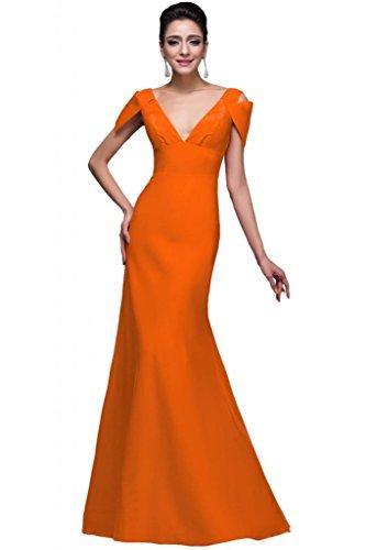 Sunvary collo a V, con fondina, per abiti da sera Pageant Orange
