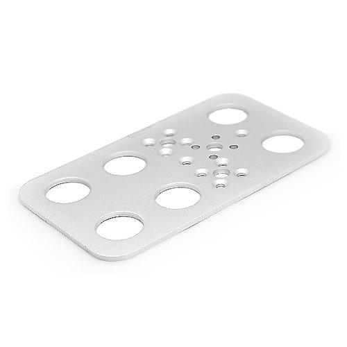 Preisvergleich Produktbild Feetech FK-FP-001 Alu Servo Platte für Biped 105 x 60 x 2 mm