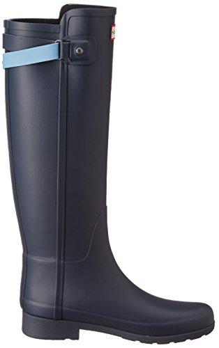 Hunter W Org Tall BT Refined B Strap, Stivali di Gomma Donna Navy/Blue Sky