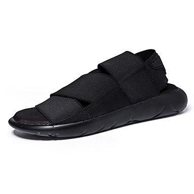 Classic Style Sommer Casual Herren Sandalen flachem Absatz haltbar Sandbeach Schuhe Hochwertiger Slip-on Schuhe Kleidung Schuhe für/Outdoor/Casual EU 37-44 Black