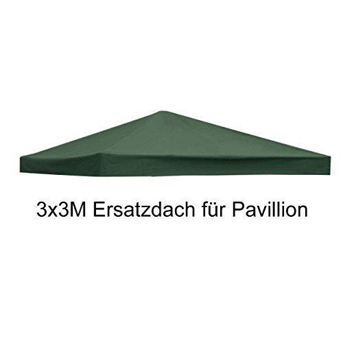 COSTWAY Pavilliondach Ersatzdach Pavillonplane Kaminabzug Dachabzug (Grün)