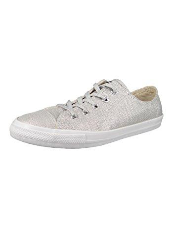 Converse Damen CTAS Dainty Ox Fitnessschuhe, Mehrfarbig Silver/White 040, 39 EU (All Silber Converse Star Damen)