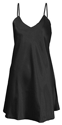 dkaren-luxurious-satin-sexy-babydoll-chemise-nightdress-nightgown-lingerie-xlarge-14-uk-black
