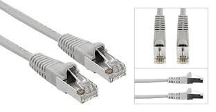 Multi-Kabel Netzwerkkabel Cat6 Ethernet Patckkabel mit RJ-45 Stecker - Grau - (10 meter) (Kabel Cat6 Grau,)