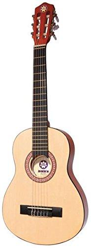 Kinder-Gitarre (1/4-Größe) inklusive Instrument/Akkord-Karten/Sticker/Transport-Case