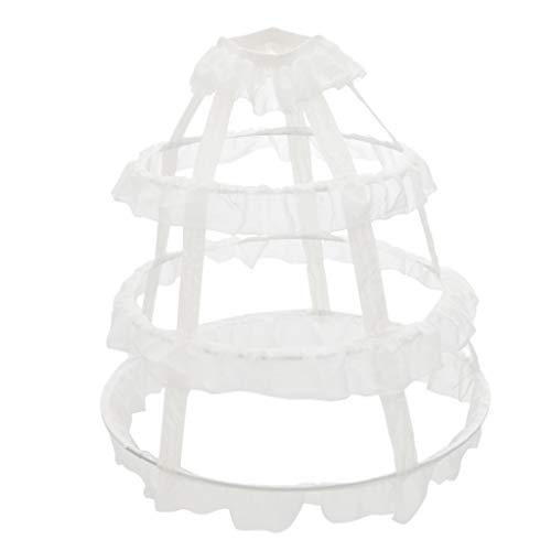 MagiDeal Damen Lang 3 Ring Petticoat Reifrock Unterröcke Underskirt Crinoline für Brautkleid...