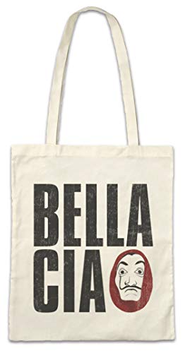 Urban Backwoods Bella Ciao II Hipster Bag Beutel Stofftasche Einkaufstasche (Papier-tasche-maske)