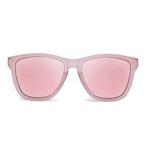 232648140a JIM HALO Gafas de Sol Retro Polarizadas Lente Reflexivo Espejo Anteojos  Hombre Mujer