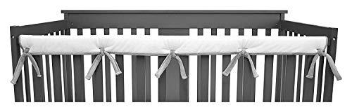 """American Baby Company 2 Stück Heavenly Soft Chenille Reversible Kinderbett Abdeckung für Seitenschienen, grau/weiß, Schienen bis zu 8\""""Around"""
