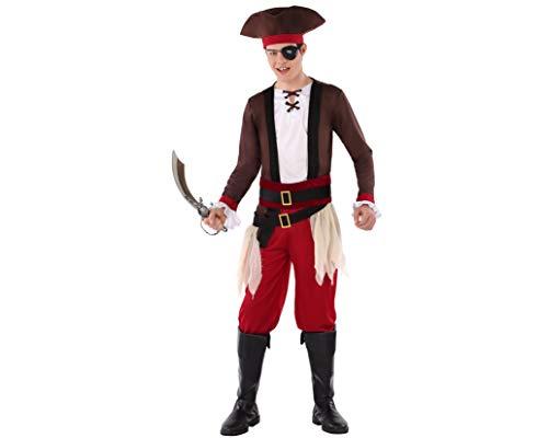 Atosa-61623 Atosa-61623-Kostüm für Jungen, Piraten, Herren, 61623, Rot, - Piraten Kostüm Für Jugendliche