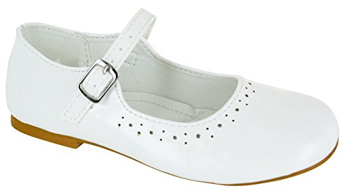 EYESONTOES Kids Girls Children Flat Wedding Party School Mary Jane Dolly Pumps Shoes SZ 8-2