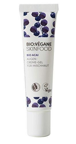 BIO:VÉGANE SKINFOOD Bio Acai - Augencreme-Gel für Mischhaut, vegan, NATRUE-zertifiziert,...
