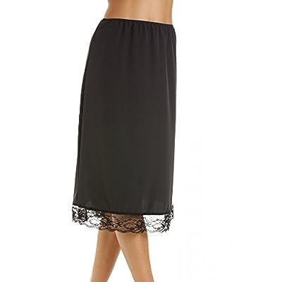 Womens Lingerie Black Lace Hemline Ladies 26'' Half Underslip