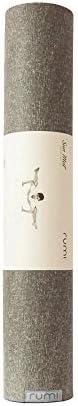 Rumi - Natural Yoga Mat - Sun Yoga Mat - 24 inches x 71 inches x 4.3 mm (Graphite) - Non Slip, Thick, Durable,