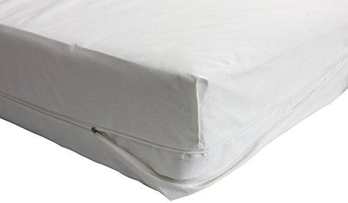 Carevitex Allergiker Bettwäsche 2160 Helsinki milbendichter, anti-allergener, atmungsaktiver Matratzenbezug Matratzenhülle aus Evolon, 100x200 x20 cm, perfekter Schutz für Hausstaub- Allergiker -