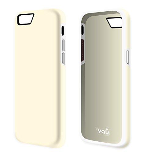 vau iPhone 6 Combo Bumper - grey & black - TPU-Hülle und Hard-Case für Apple iPhone 6 / 6S cream & white