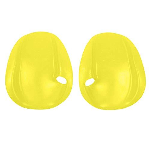 Ztoma 1 Paar Modische Hand Paddel, Vielseitig Paddel Glatt Hand Gefühl, Schwimm Gewebter Tauchen Handschuhe für Training Schwimmen Tauchen - Gelb, M