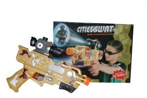 BEST SHOP CITIES SWAT LASER PROJECTOR GUN(Light,Sound,Flash)  available at amazon for Rs.449