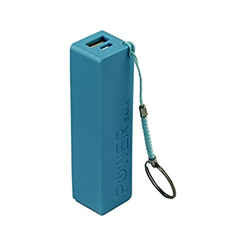 BZLine USB charging mobile phones and electronic devices. 18650 External Backup Battery Charger 1 + Key Chain (Blue)
