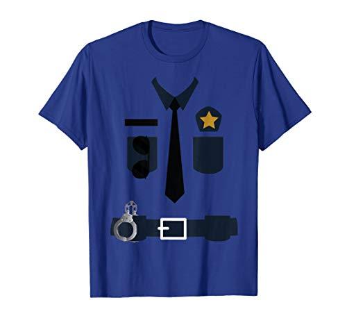 Kostüm Polizei Gefangener - Polizei Cop Uniform TShirt Polizist Anzug Kostüm Top T-Shirt