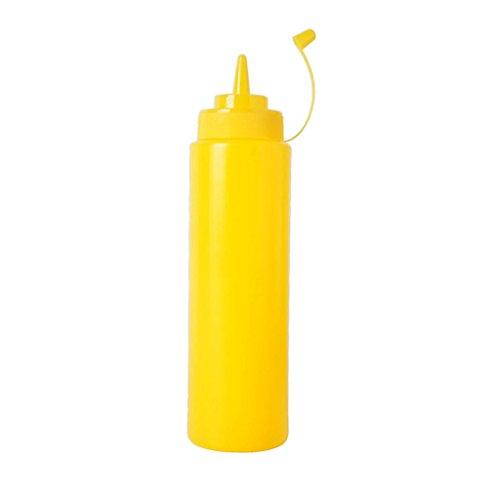 petsola Kunststoff Küche Squeeze Flasche Ketchup Senf Sauce Essig Dispenser - Gelb, 240ml - Ketchup Squeeze Dispenser