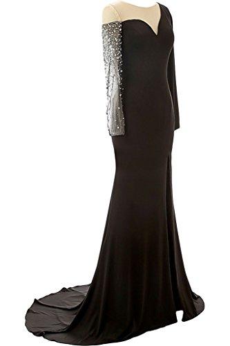 Ivydressing Damen Modisch Lanf Aermel Schlitz Paillette Mutterkleid Promkleid Abendkleid Schokolade