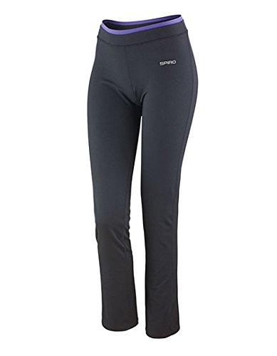 Pantalon moulant Femme Sport Fitness Yoga Pant Black/Lavender
