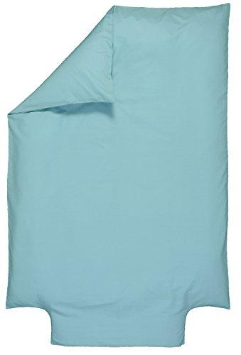 P'tit Basile - Housse de couette bébé - enfant - dimensions 100x140 cm - Coloris turquoise - Coton biologique de qualité supérieure, 57 fils/cm2, Tissage serré pour plus de douceur - housse de couette avec bouteille pour border votre enfant