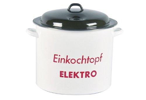 Karl Krüger Einkocher 27 Liter emailliert mit Metalldeckel