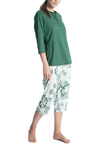 Calida Damen Soft Jersey Fun 3/4 Pyjama Zweiteiliger Schlafanzug, Mehrfarbig (Millard 599), Medium (Pyjamas Damen-medium)
